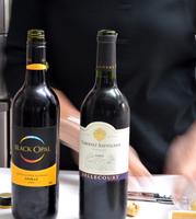 プルーン&ウォールナッツログとワイン