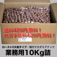 殻つきマカダミアナッツ(大粒ロースト10Kg)